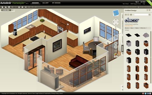 Dise ar casa online con autodesk homestyler for Software cocinas integrales