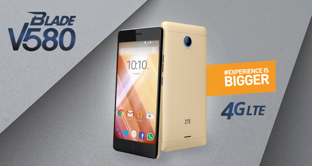 Zte blade v580 ya disponible en telcel for Primicias ya para movil